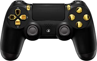 Black/Gold Custom PS4 PRO Rapid Fire Custom Modded Controller 40 Mods for All Major Shooter Games, Auto Aim, Quick Scope Sniper Breath & More (CUH-ZCT2U)