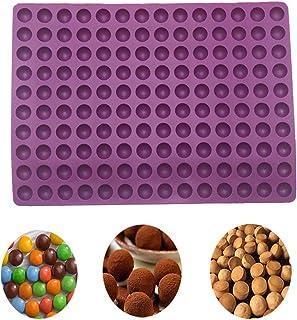 2cm Moule Forme Demi-Sphères 140 Cavités Silicone Terre Cuite - Moule de Cuisson pour Biscuits pour Chiens et friandises P...