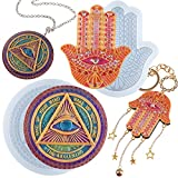Evil Eye and Hasma Hand of Fatima Epoxy Resin Casting Silicone Molds Pack of 2 for Jewelry Making Necklace Pendant Keychain Charm