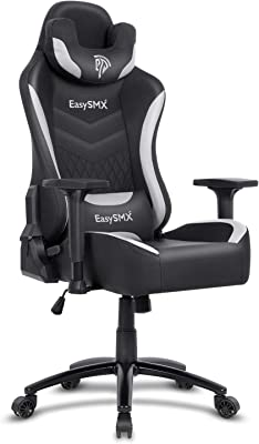 EasySMX Big and Tall Gaming Chair Racing Office Computer Game Chair Ergonomic Backrest and Seat Height Adjustment Recliner Swivel Rocker with Headrest and Waist Tilting E-Sports Chair 350Lbs