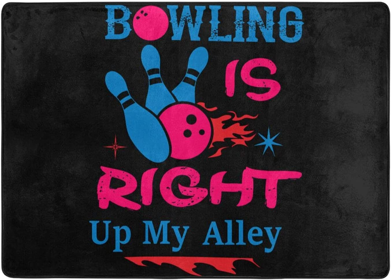 wobzfrok Direct store Bowling Max 88% OFF Si Right Up My and Alley Home Doormat O Novelty