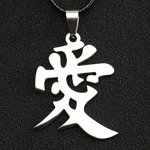YUNMENG Naruto Halskette Kazekage Gaara Ninja Chinesisches Liebessymbol Christentum Christentum Buddhismus Buddhistischer Anhänger Religion Anime Schmuck
