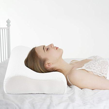 Power Of Nature Almohada Cervical Viscoelastica - Almohada Ortopedica Diseño Ergonómico Terapéutico Reduce Dolores Cervicales, Funda de Extraíble y Lavable 60 * 35CM