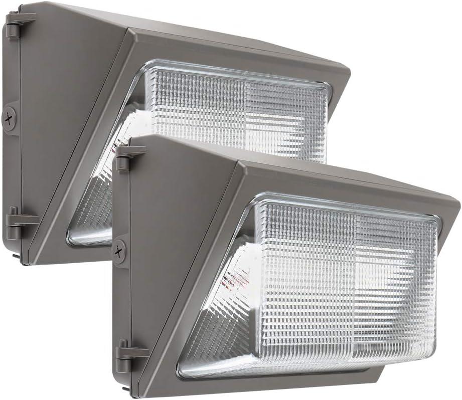 Konlite LED Wall Pack Light 40W IP65 Commercial Grade with Photocell Sensor Built in for Dusk to Dawn Operation 120-277V DLC and ETL Listed 5000K