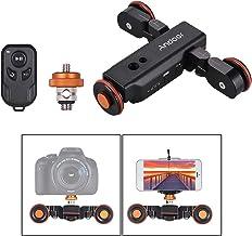Andoer L4 Pro Cámara de Vídeo Dolly con Indicación Escala Eléctrica Pista Cursor Inalámbrico Mando a Distancia Recargable Batería 3 Velocidad Ajustable Mini