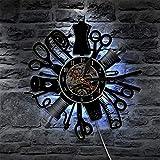 Máquina de Coser Vintage Reloj de Pared Reloj de Vinilo de Vinilo Arte de Pared...