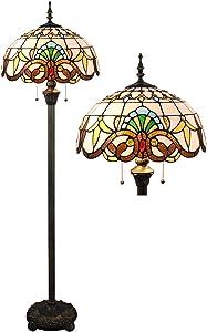 Lampadaire baroque européen de 16 pouces