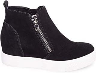 Women's Wedgie Sneaker, Black Suede, 7.5 M US