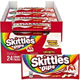 Skittles Dips Yogurt Coated Fruit Candy, 1.5-Ounce Singles 24-Count Box