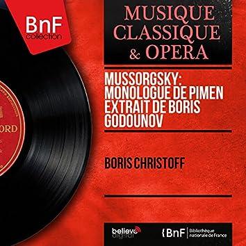 Mussorgsky: Monologue de Pimen extrait de Boris Godounov (Mono Version)