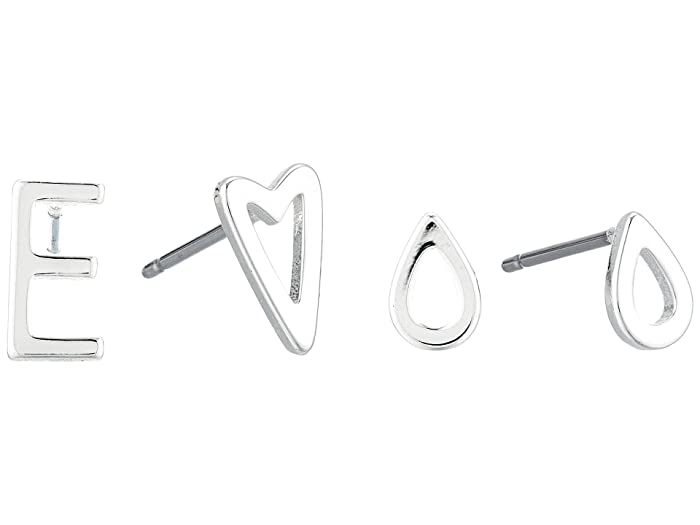 Lucky Brand  E Earrings Set (Silver) Jewelry Sets