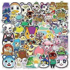 Animal Crossing Stickers 150pcs Popular Game Sticker Vinyl Waterproof Decal Car Sticker for Teens Water Bottle Laptop…