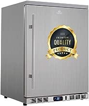 KingsBottle 140 Can Outdoor Beverage Cooler, Solid Stainless Steel Outdoor Refrigerator