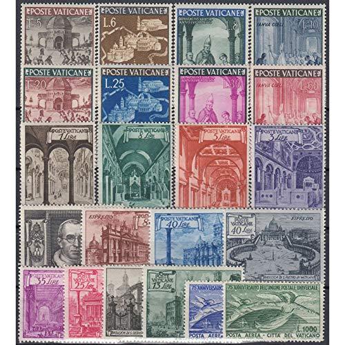 Goldhahn Vatikan 1949 postfrisch ** Nr. 149-170 Briefmarken für Sammler