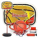 PDVCB Mini Baloncesto para niños Hoop Basketball Hoop Group Infantil Altura Ajustable Juegos de Interior y al Aire Libre Juego