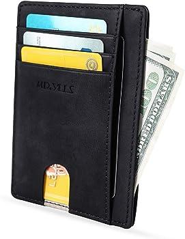 MR. YLLS Front Pocket RFID Blocking Leather Wallet for Men & Women