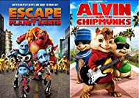 Alvin & the Chipmunks & Escape From Planet Earth Cartoons movie set DVD Animated Set
