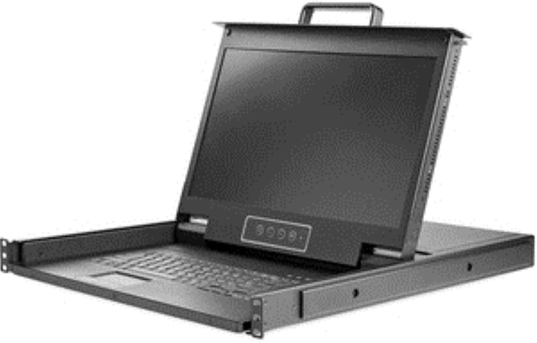 StarTech.com Rackmount KVM Console HD 1080p - Single Port VGA KVM with 17