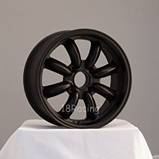 4 PCS ROTA RB WHEELS 17X7.5 PCD: 4x100 OFFSET: 45 HB:56.1 FLAT BLACK