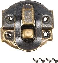 42mm x 36mm sourcing map Cerrojo de gancho de cierre Cierre de brazo oscilante bronce enchapado en 2 piezas con tornillos