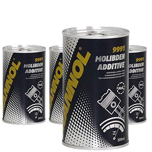 MANNOL 4 x 300ml 9991 Molibden Additiv/oel Additiv + Molybden MoS2 Motorbeschichtung Zusatz