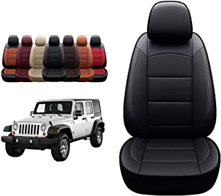 Oasis Auto Wrangler JK 2013 2014 2015 2016 2017 Unlimited, Sahara, Sport, X, Custom Exact Fit PU Leather Seat Covers Acces...