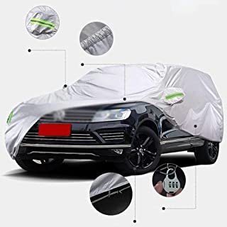 Car Cover,Waterproof Rain Dust Sun UV All Weather Waterproof Protection Thickened Oxford Cloth Car Coat With Strap And Ref...