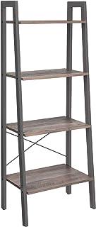 VASAGLE Étagère de Rangement, Bibliothèque à 4 Niveaux, avec Cadre en métal, pour Salon, Chambre, Cuisine, Balcon, Style I...