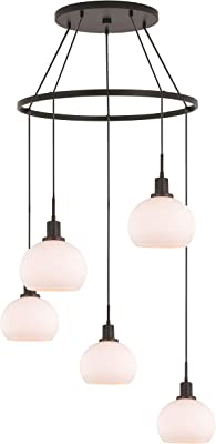 Woodbridge Lighting 17828MEBLE-C00801 Chandelier, Bronze