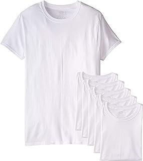 Hanes 2135E7 Lot de 7 Colliers Ras du Cou pour Homme Blanc