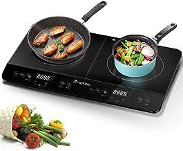 Aobosi plaque de cuisson, table de cuisson à induction double portable, commande par..