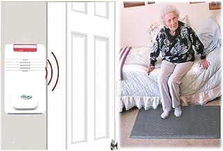 "Smart Caregiver Cordless Floor Mat Pressure Pad with Economy Cordless Alarm (No Alarm in Patient's Room), Gray, 24"" x 48"""