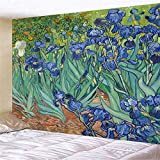 Geométrico famoso Van Gogh imprime colgante de pared pintura al óleo abstracta dormitorio sala tapiz de fondo tela a6 130x150cm
