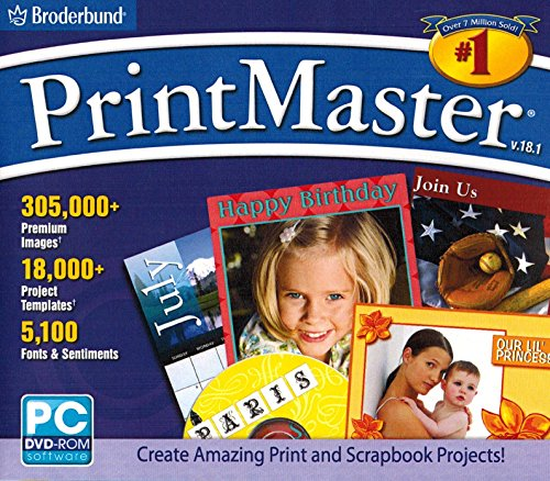Broderbund PrintMaster Version 18.1