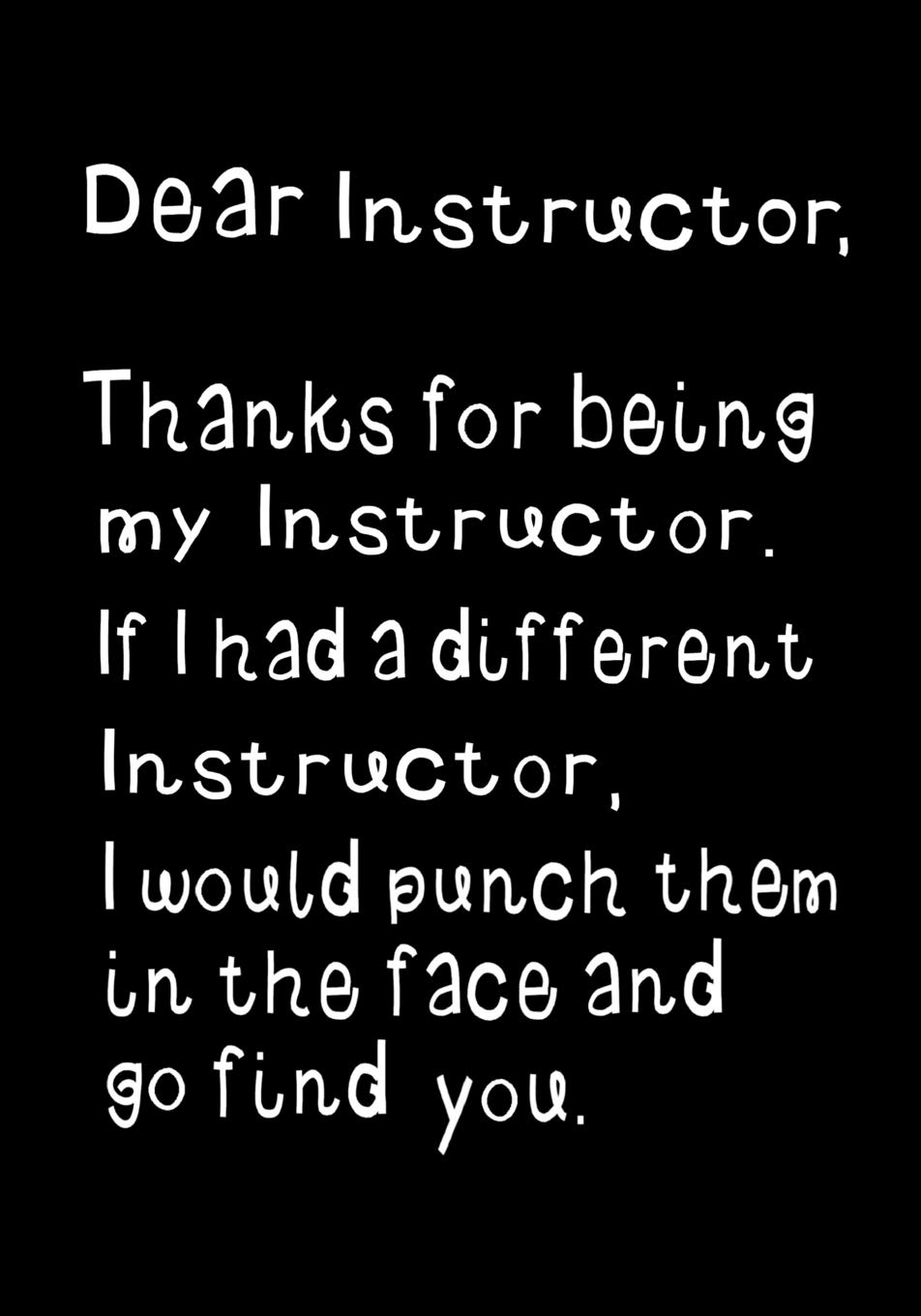 Image OfDear  Instructor, Thanks For Being My Instructor: Funny Humorous Present Or Gag Gift ~ Journal, Beautifully Lined Pages No...