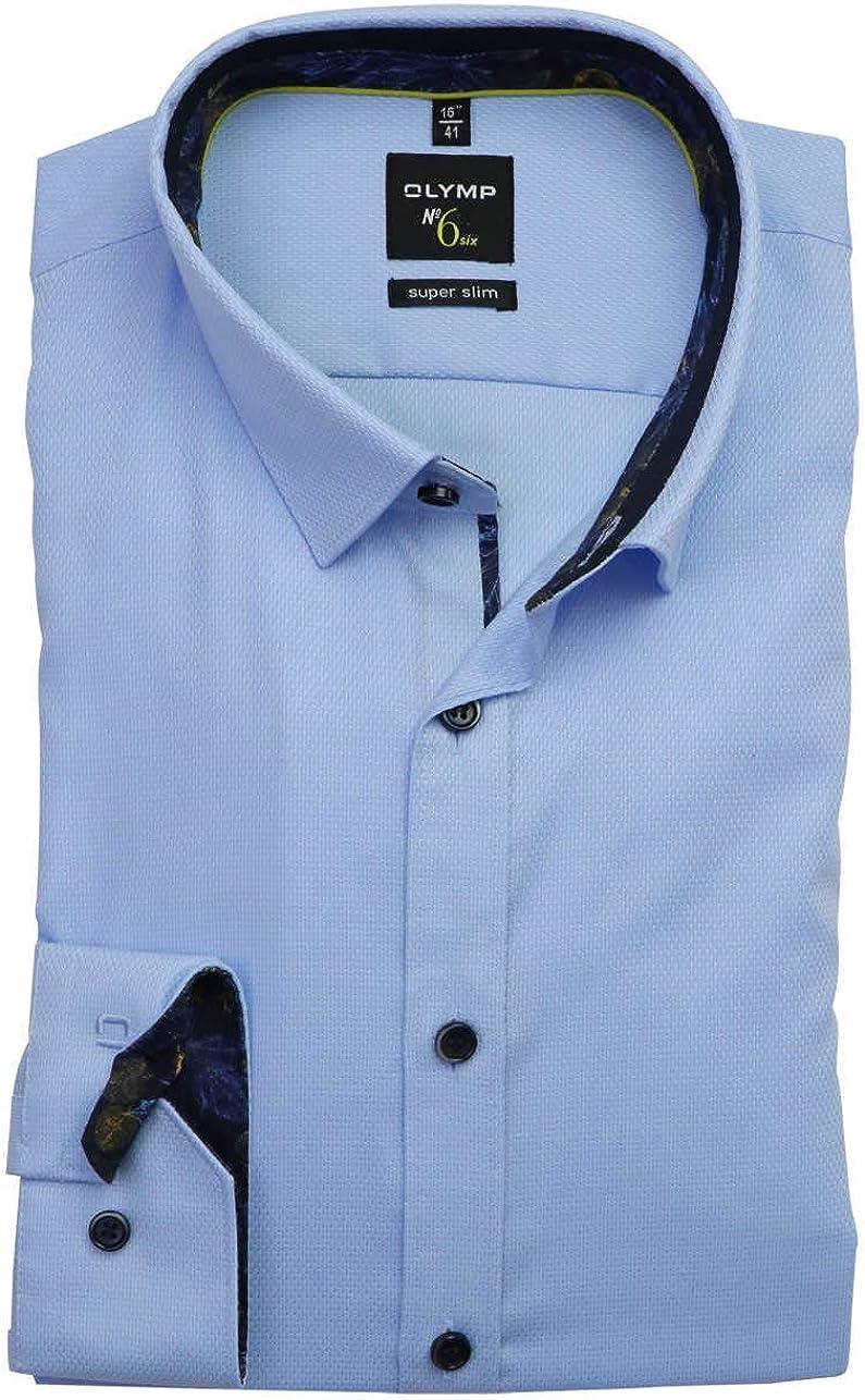 Olimp No. Six - Camisa de manga larga, color azul claro ...