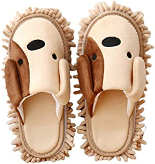 TOPBATHY 1 Pair Microfiber Slipper Mop Shoes Detachable Reusable for Bathroom House Office Kitchen Floor Dust Dirt Hair Cl...