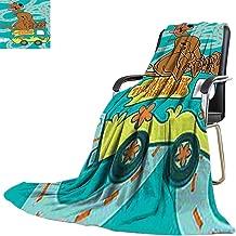 Picnic Blanket,Scooby Doo Mystery Machine Custom Made 60