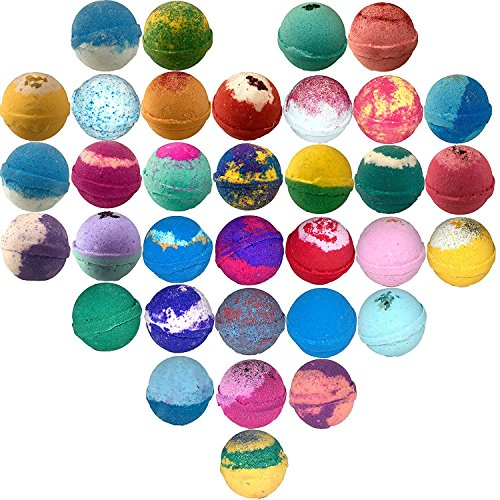 10 Large Bath Bombs USA Made Gift Set - Bath Fizzies -Over 200 Different Varieties, Assorted Gift...