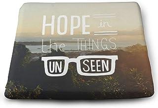 Hope In The Things Unseen 超通気性 座布団 クッション 夏 スクエア 無地 蒸れない フロア クッション おしゃれ スクエア 座蒲団 洗える 35*38