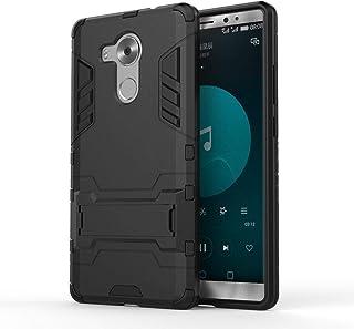 جراب هاتف Huawei Mate 8 Iron Man شديد التحمل مقاوم للصدمات هجين بمسند - أسود