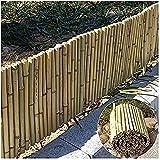 RUIXFHA Recinzione per La Privacy del Giardino Schermi Protettivi Recinzione in bambù Schermo per La Privacy Tappetino in bambù Bamboo, Recinzione Autoportante per Esterni, Wood Color, 0.9x2.5m