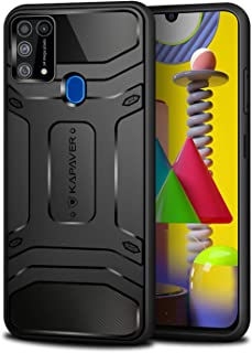 KAPAVER® Rugged Back Cover Case for Samsung Galaxy M31 MIL-STD 810G Officially Drop Tested Solid Black Shock Proof Slim Armor Patent Design (Only for Galaxy m31)