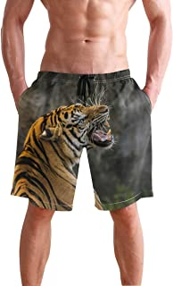 Mens Swim Trunks Tiger Roaring Beach Board Shorts