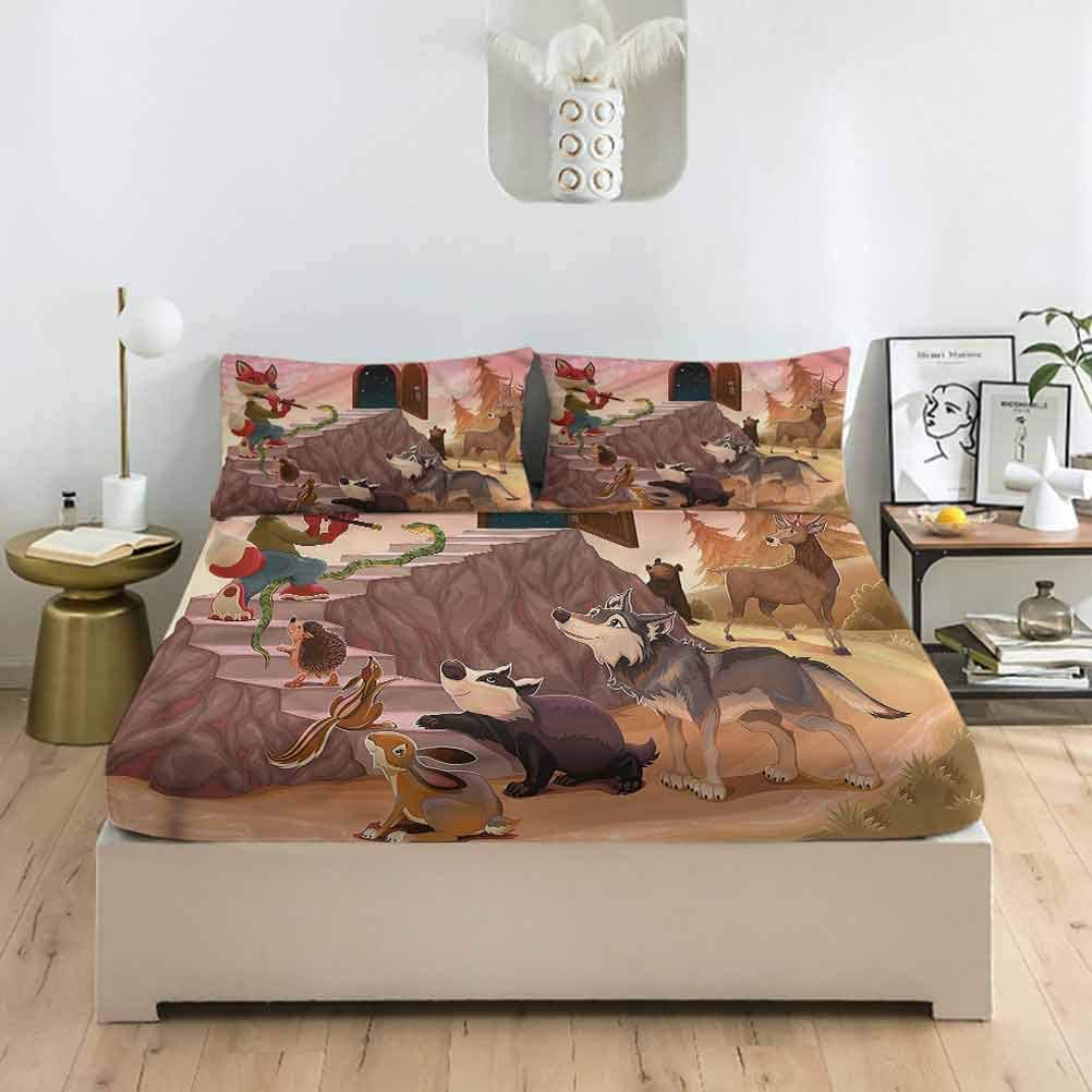 Animal Twin XL Size Fitted Sheet 2021 new a Moon Pillowcase Many popular brands Sta Sets in