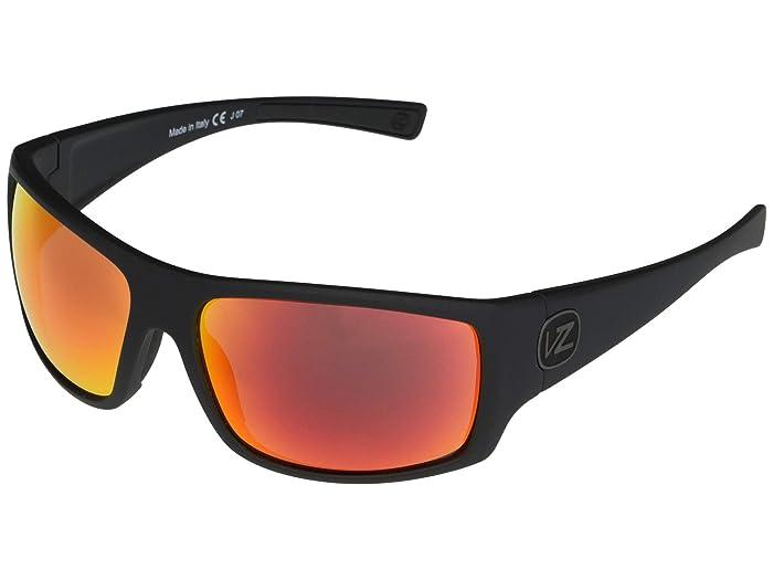 VonZipper  Suplex (Black Satin Red Chrome) Fashion Sunglasses