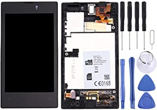 شاشة عرض LCD من شوهان جزء إصلاح الهاتف بشاشة LCD + لوحة لمس مع إطار لملحقات الهاتف المحمول نوكيا لوميا 520