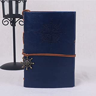 Leepesx Retro Tie Office Business Artificial Leather Student Travel Gift Journal Diary Notebook