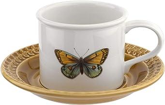 Portmeirion BAAMYT04153 Botanic Garden Harmony Breakfast Cup and Saucer Moss Green, Ceramic