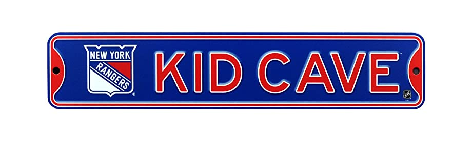 Authentic Street Signs NHL Officially Licensed, Premium Grade Solid Steel KID CAVE STREET SIGN- Prime Wall Decor for Bedrooms, Game Rooms, Play Rooms- the